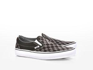 Vans – UA CLASSIC SLIP-ON BLACK/PEWTER CH – (CHECKERBOARD) BLACK/PEWTER