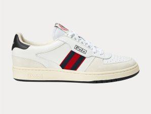 "Polo Ralph Lauren ανδρικά δερμάτινα sneakers με κορδόνια ""Court"" – 809784401001 – Λευκό"