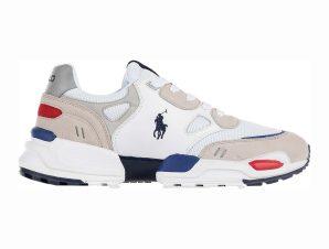 "Polo Ralph Lauren ανδρικά sneakers ""Polo Jgr"" – 809821086001 – Λευκό"