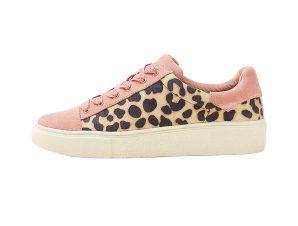 Esprit γυναικεία sneakers με leopard print – 128EK1W012 – Ροζ