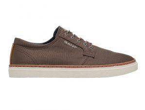 "Gant ανδρικά sneakers με logo print στο πλάι και δερμάτινες λεπτομέρειες ""Prepville"" – 22638666 – Χακί"