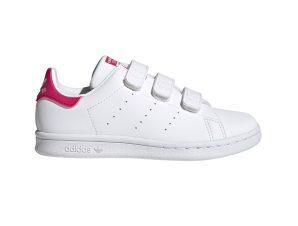 "Adidas παιδικά sneakers με velcro ""Stan Smith"" – FX7540 – Λευκό"