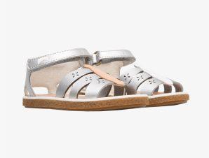 "Camper βρεφικά παπούτσια με πεταλούδα ""Twins"" – K800367-003 – Ασημί"