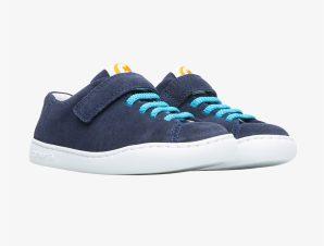 "Camper παιδικά suede παπούτσια με ελαστικά κορδόνια ""Peu"" (28-31) – K800375-002 – Μπλε Σκούρο"