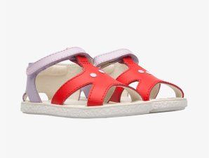 "Camper βρεφικά παπούτσια με αστερία ""Twins"" – K800444-001 – Κόκκινο"