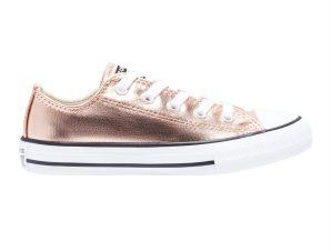 "Converse παιδικά sneakers μποτάκια ""Chuck Taylor All Star Matallic"" – 670180C – Μπρονζέ"