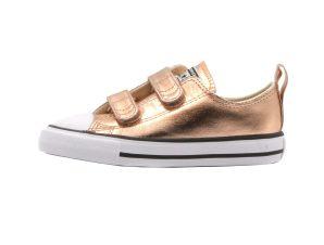 "Converse παιδικά sneakers μποτάκια ""Chuck Taylor All Star 2V Metallic"" – 770181C – Μπρονζέ"