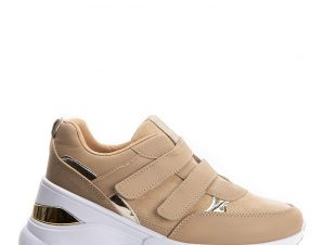 Sneakers με πλατφόρμα και scratch, χακί