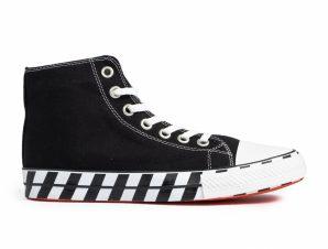 Ανδρικά μαύρα ψηλά sneakers με πριντ