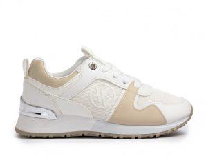 Γυναικεία sneakers σε λευκό και μπεζ